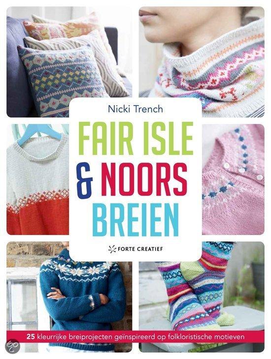 De Folkloristische Fair Isle Breipatronen En Noorse Motieven Zijn